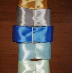 Набор атласных лент ширины 4 см