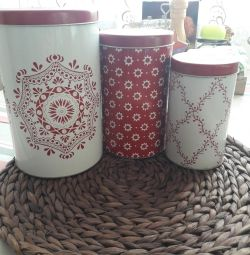 Ikea. Tin cans for storage