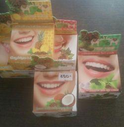 Thai whitening toothpaste.