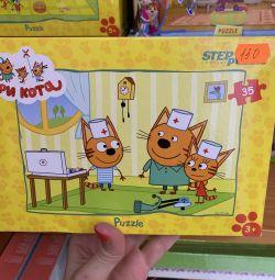 Bright cartoon puzzles