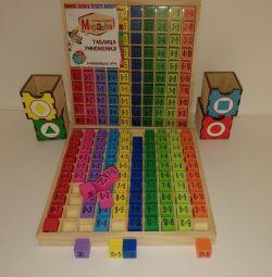 Нова дерев'яна таблиця множення