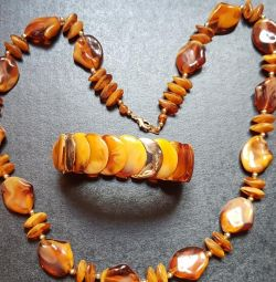 Jewelry Set (faux amber)