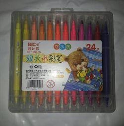 Stilouri din pâslă noi 24 buc.