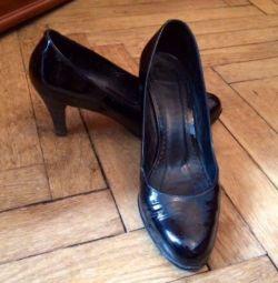 Туфли черные лак Tervolina 41