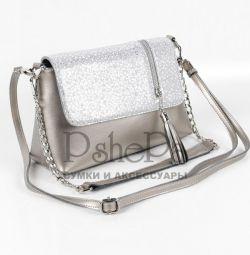 Женская кожаная сумка С1913 Сильвер
