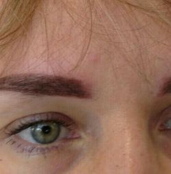 Permanent makeup of eyebrows and lips