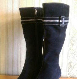 Boots suede autumn