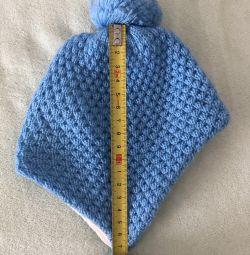 Pălărie albastră pentru copii