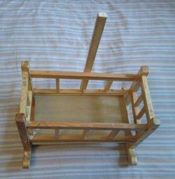 Кроватка-качалка для куклы 40х20х27 см
