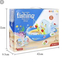 Детский игровой набор «Кухня-Рыбалка» новый