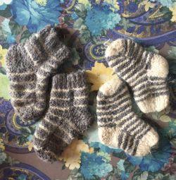 Woolen baby socks
