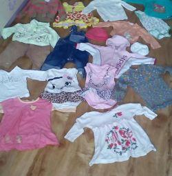 Ένα πακέτο πραγμάτων για ένα κορίτσι ενός έτους