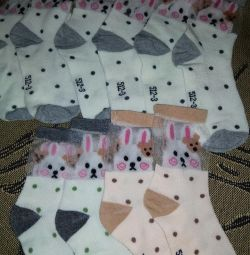 Socks with bunnies for girls new