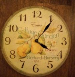 Wall clock, new. With a box