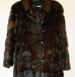 Short fur coat female rabbit, size 44-46