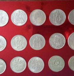 Ancient silver coins The US dollar, franc, the Dog