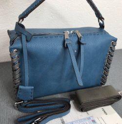 Τσάντα Fendi μπλε