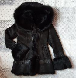 Doğal koyun derisi palto