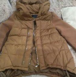 Куртка межсезонная оригинального фасона