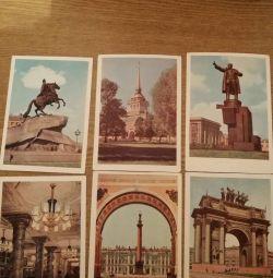 Bir dizi kartpostal Leningrad 1959 yıl.