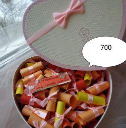 Gift set. Gift. Reasons for love
