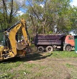 Вывоз мусора КамАЗ 15 тн