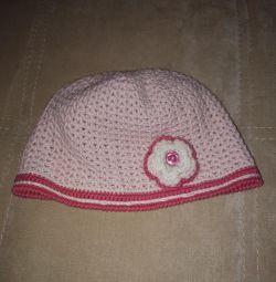 1,5-3 yaş kız için tığ işi şapka