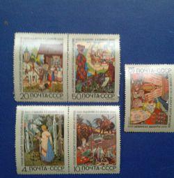 """Timbrul poștal """"Povești"""" I.Ya. Bilibin"""