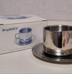 Чашка с Блюдцем BergHoff Еdelstah Бельгия