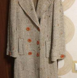Coat Ιταλικό Domini 46-48 γυναίκες με ζώνη