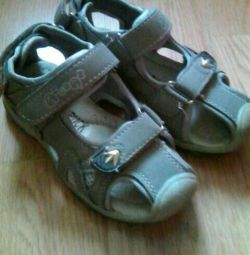 Sandals on a boy