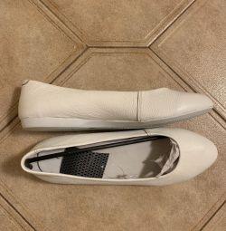 Pantofi de balet pentru femei. Piele autentică. Dimensiunea 40