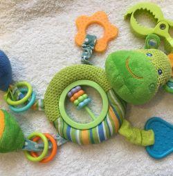 Jucării, zuruitoare, suspendare în cărucior