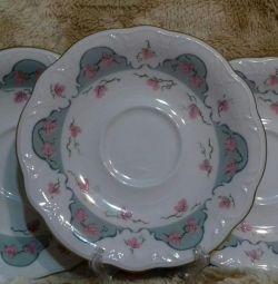 Saucers porcelain Kahla GDR