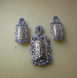 Sterling Silver Earrings and Pendant 925