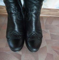 winter boots rr 36, clotilde leather, fur