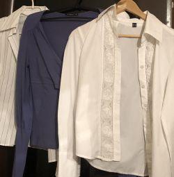 Cămașă / bluză pentru femei, bumbac, soluție 44-46