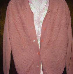 Кофта шерсть и блузка шелк 44