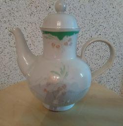Чайник Кольдиц фарфор из гдр