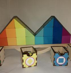 Νέος ξύλινος εξισορροπιστής παιχνιδιών σε συσκευασία