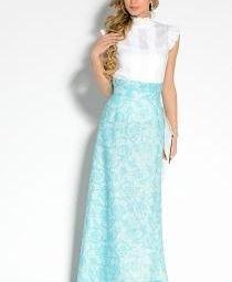 Дизайнерская юбка - 100% лен