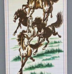 Panel - Scroll Horses