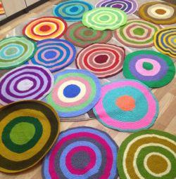 Knitted circles, handmade