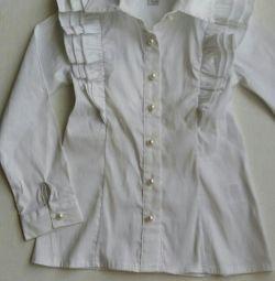 Kız r110 -116 için okul bluzu