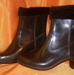 Гумові чобітки на підборах