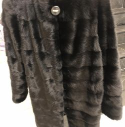 The mink coat is new!