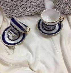 Tea pair LFZ Imperial Porcelain Factory