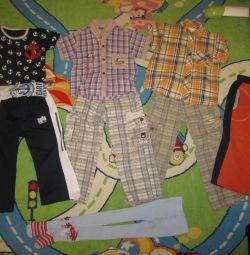 Рубашки, штаны, футболка, колготки р 104-116