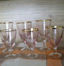 Rose Cam Şarap Kadehi