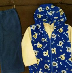 Bluza, vesta, pantaloni din lână.